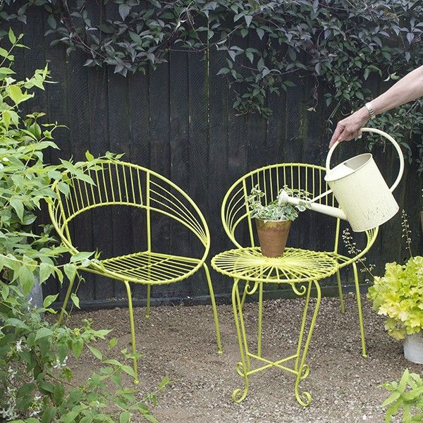 Garden bistro sets This lime green bistro set brings color to the FEMXDTR