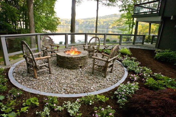 Garden design ideas fireplace PJPXXHK