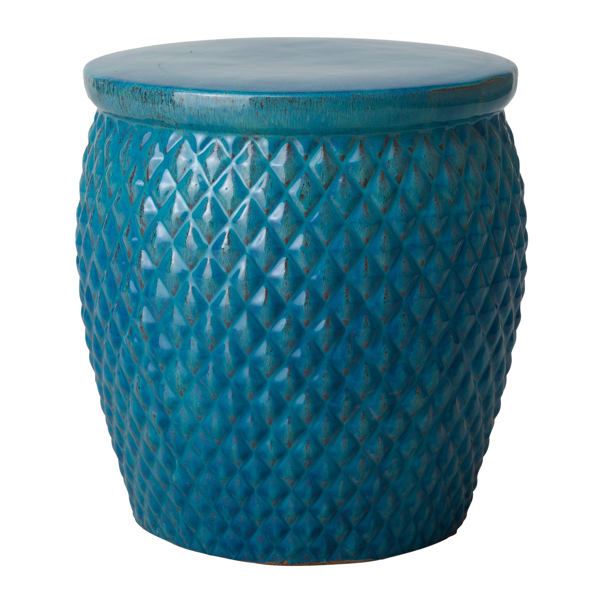 Garden stool pineapple garden stool with turquoise glaze DDEWLXF