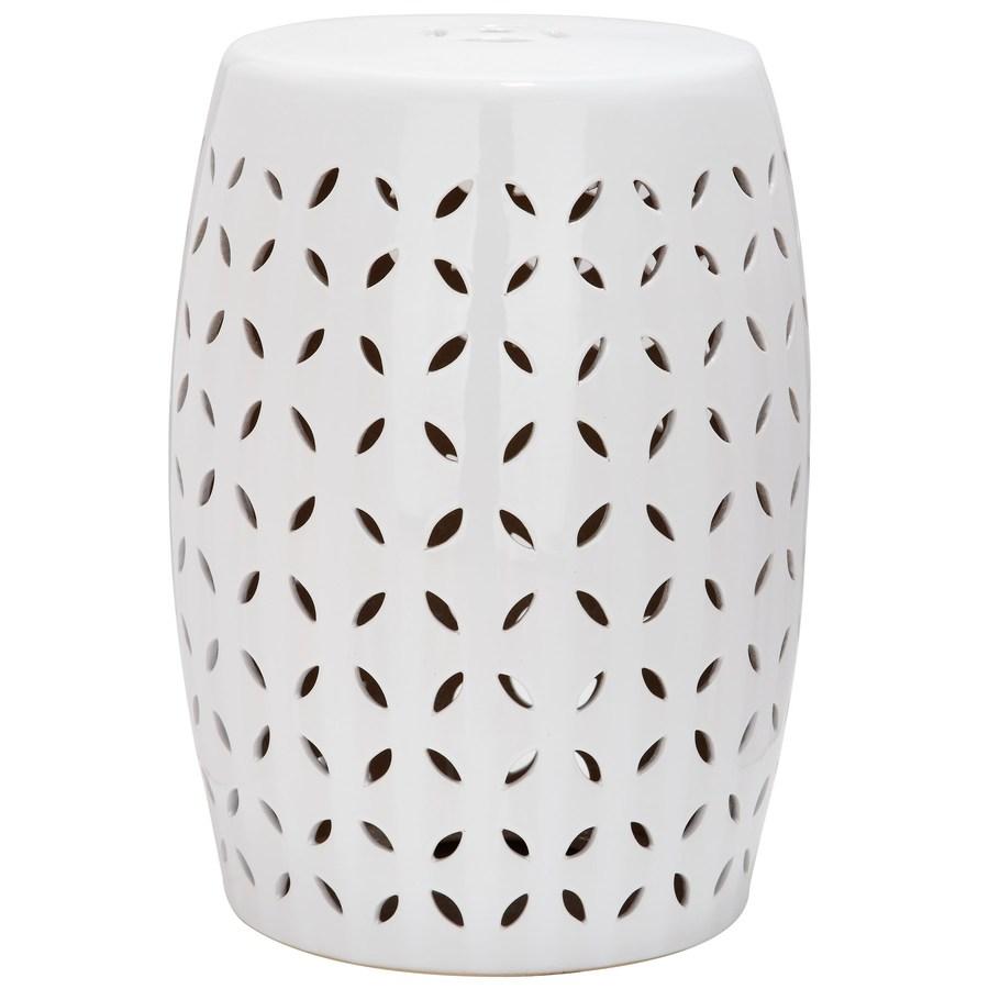 Garden stool safavieh 18.5 inch white ceramic garden stool with barrel OSUKPYU