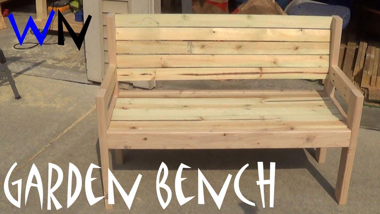 garden wooden benches build garden bench |  steveu0027s design - youtube OYWNUSU