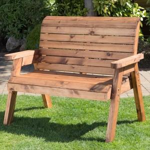 Wooden garden benches Redlands 2-seater bench AHWOWZX