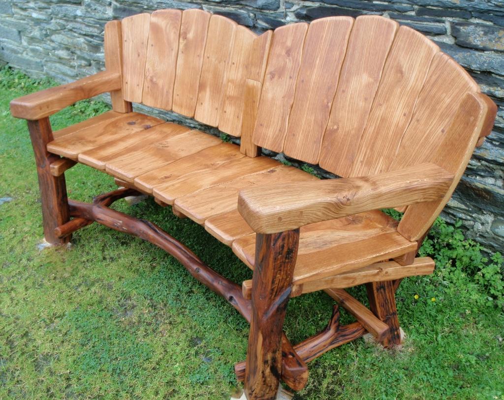 Wooden garden benches rustic wooden garden benches ILDYDYO