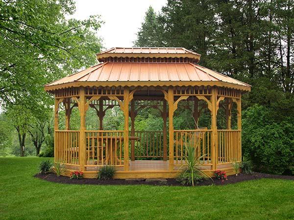 Pavilions 10x16 wooden pavilion JEUUKIN