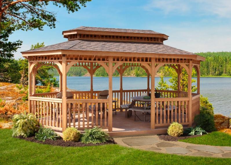 Pavilions wooden pavilion FQRUAVS