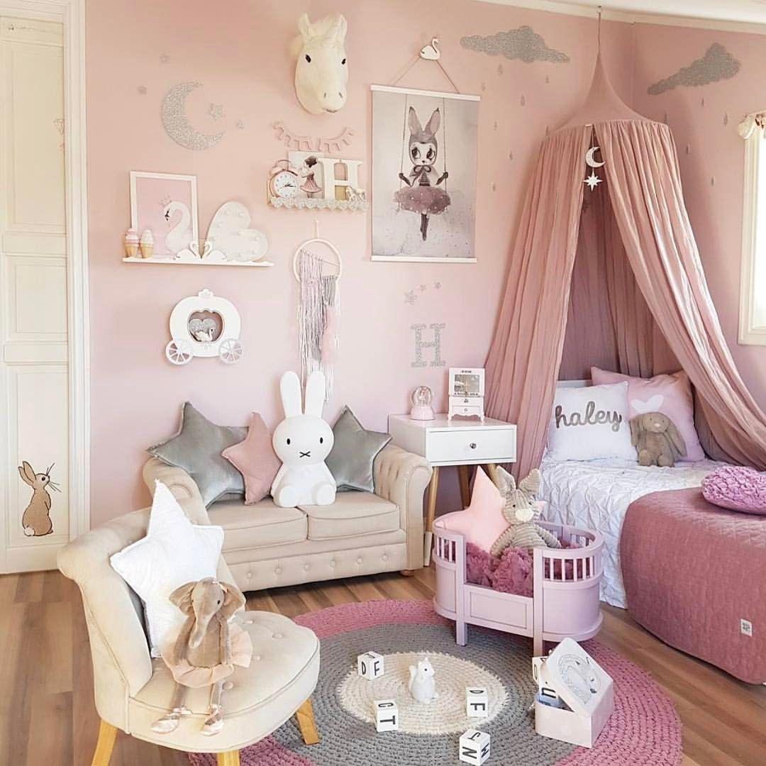 12 funny girlu0027s bedroom decorating ideas - cute room decor in pink PLSRJYK