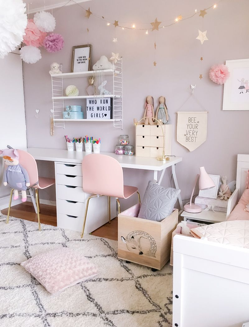 Girls' room decor in Scandinavian style divided girlsu0027 room - from children's interiors RHPMCSG