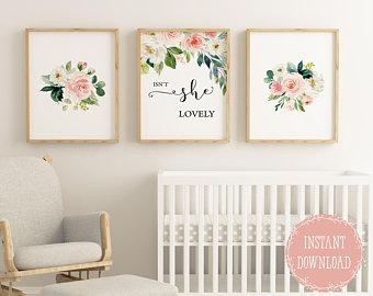 Girls Room Decor, Nursery Wall Decor, Isn't She Beautiful, Girls Room Decor, Baby Girls Nursery, KUSOOTB