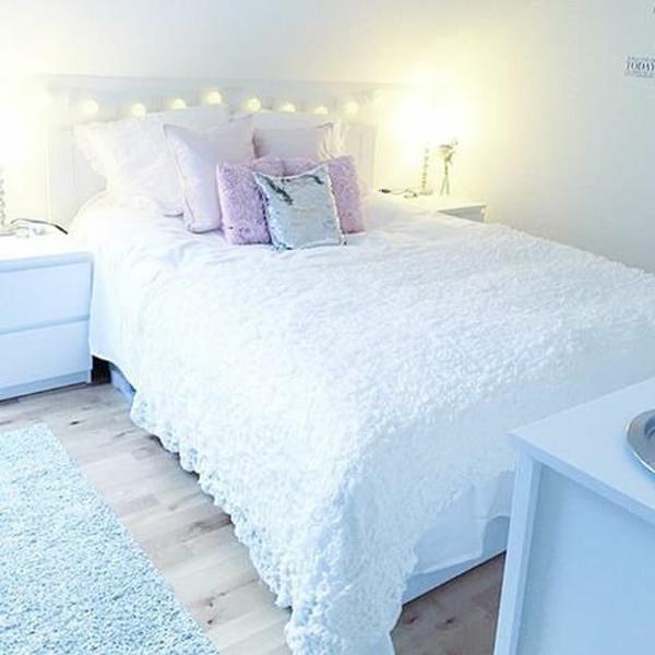 Girls 'room decoration white-sweet-girls' room decoration KARLENE