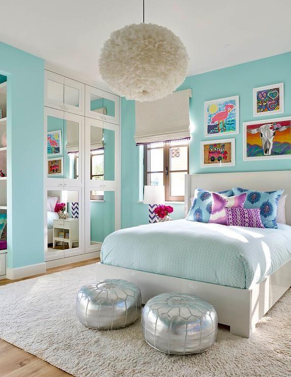 Bedroom decor for girls - turquoise bedroom ideas KZEJIQK