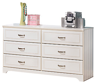 Girls bedroom furniture Lulu dresser, white, large ... FNCSAMP