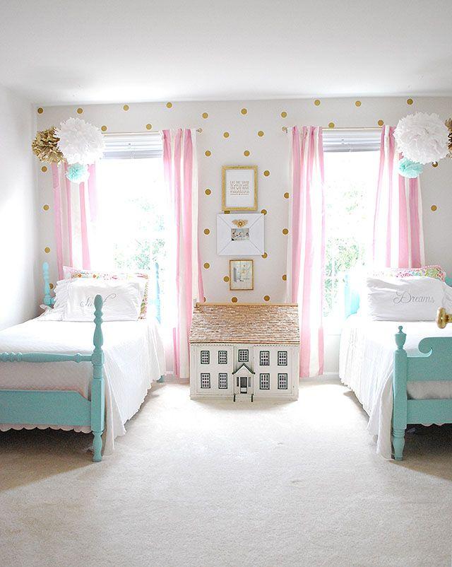 Girls bedroom idea oasis 2016 abstract |  pinterest |  Bedroom, vintage twins and girls NLAETRN