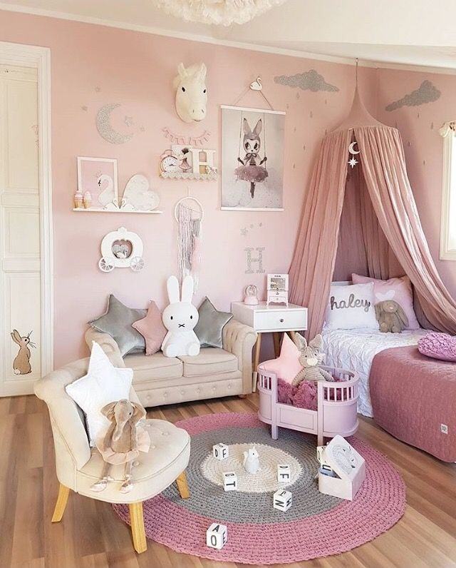 Girls bedroom idea pretty pink girlu0027s room - is for me |  Baby girl, youu0027ll HJDWALR