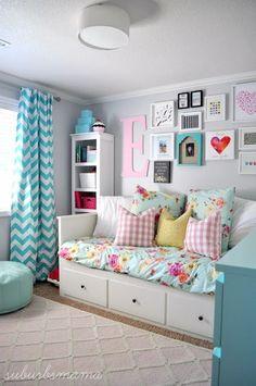 Girls Bedroom Ideas I love this bedroom idea for a tween or teen girl bedroom.  XEQTULW