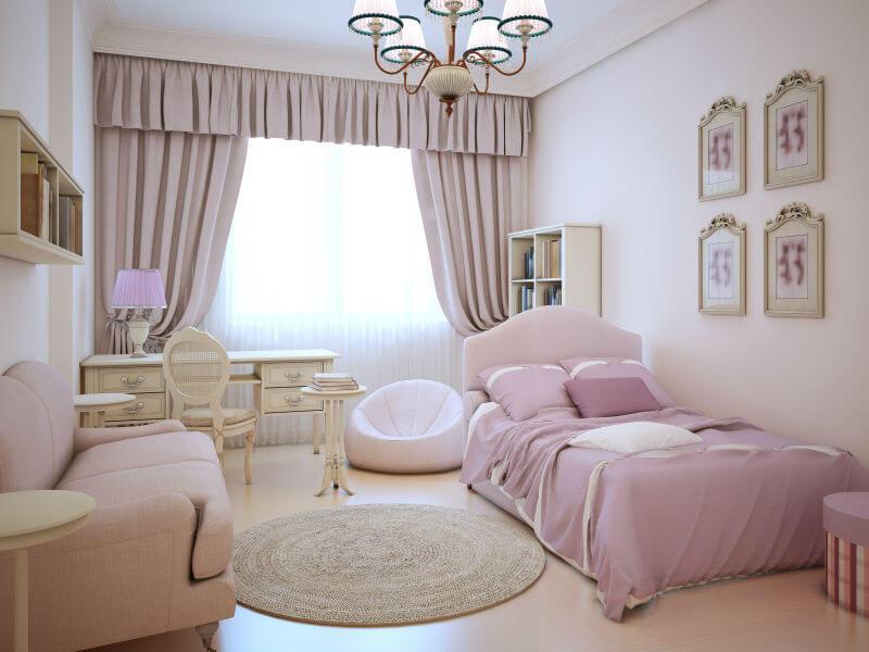 Girls bedroom ideas little teenage girls room with all pink decor DQJFRDW