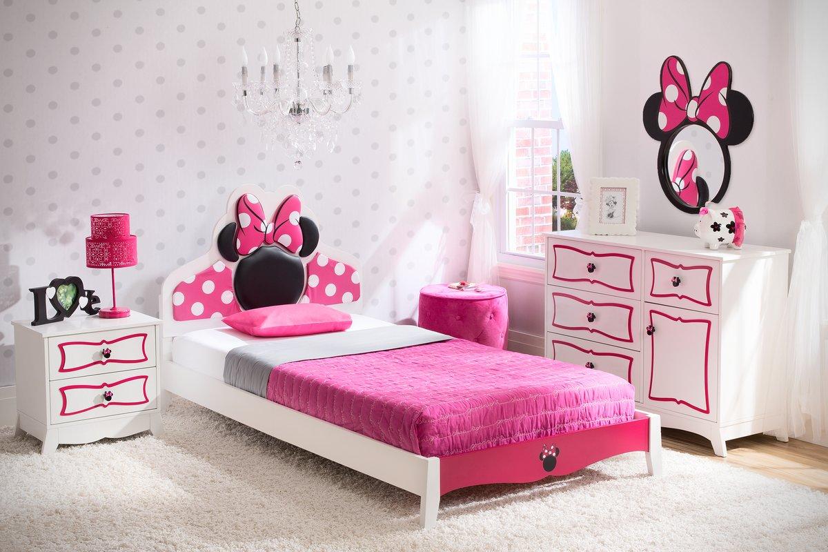 Girls Bedroom Sets Disney Minnie Mouse Panel 4 Piece Bedroom Set DBBCZJR
