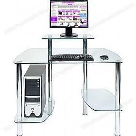 Computer desk made of glacier glass ... DNWDQHS