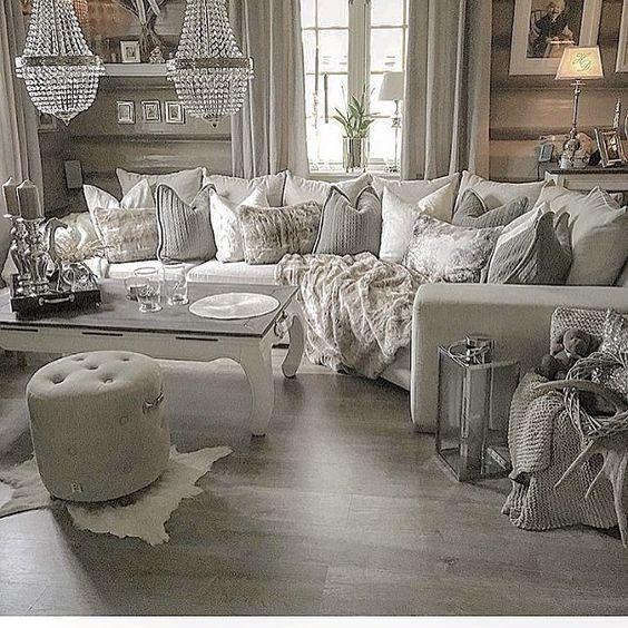 21 Fabulous Rustic, Glamorous Living Room Decorating Ideas - Amber's ...
