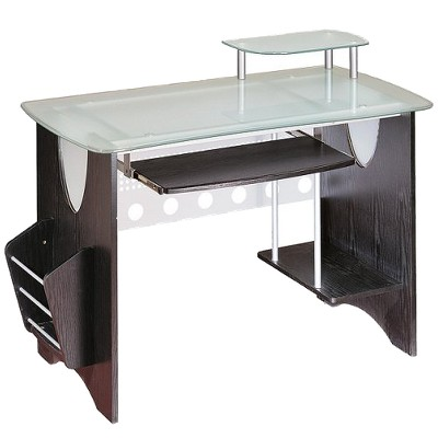 Computer desk made of glass for this article POPELAL