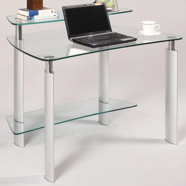 Glass Computer Desk Furniture, Amazing Contemporary Computer Desk Glass Ideas: RWIMIZS Fascinating Contemporary Computer Desk