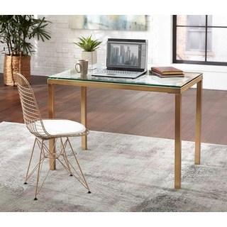 glass desk simple living manhattan desk EGLAQKZ