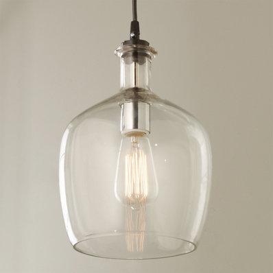 Glass Pendant Lights Carafe Glass Pendant Light - small HKGHZBU