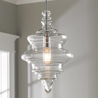 Glass pendant lights closed glass coil pendulum RBXUGAB