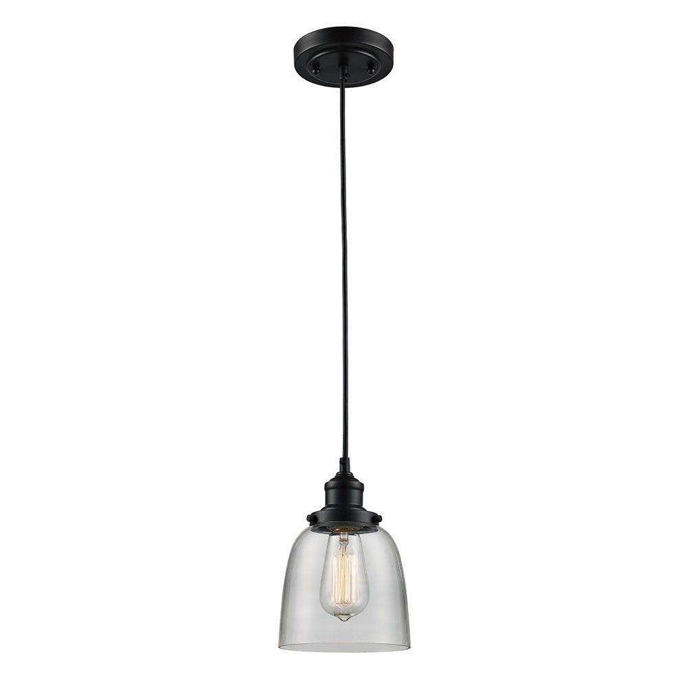 Glass pendant lights monteaux lighting 1-flame oil-oiled bronze glass mini pendant light LBHISCX
