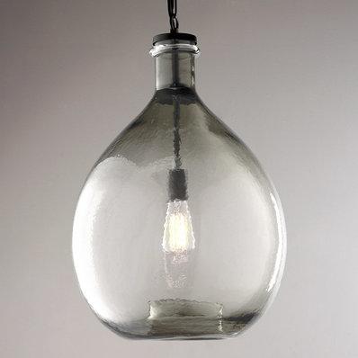 Glass pendant lights oversized glass jug pendant light YPLZDRY