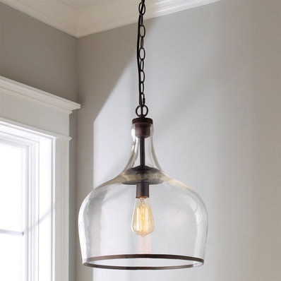Glass pendant lights reproduction glass cloche pendant BVHIOJD