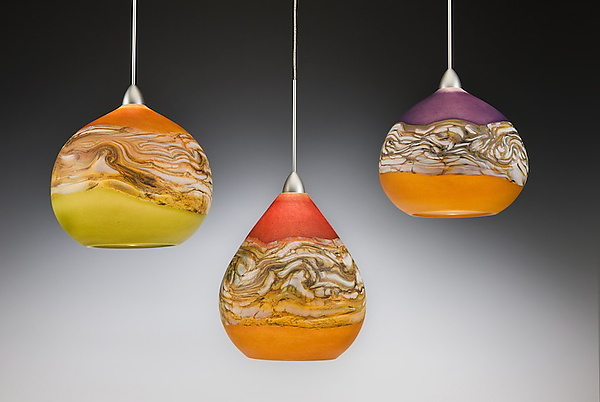 Glass pendant lights Strata pendant lights by Danielle Blade and Stephen Gartner (synthetic glass UDIECYL
