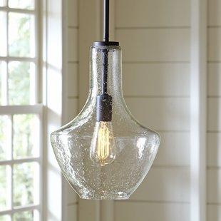 Glass pendant lights sutton 1-flame schoolhouse pendant QNQKIFW
