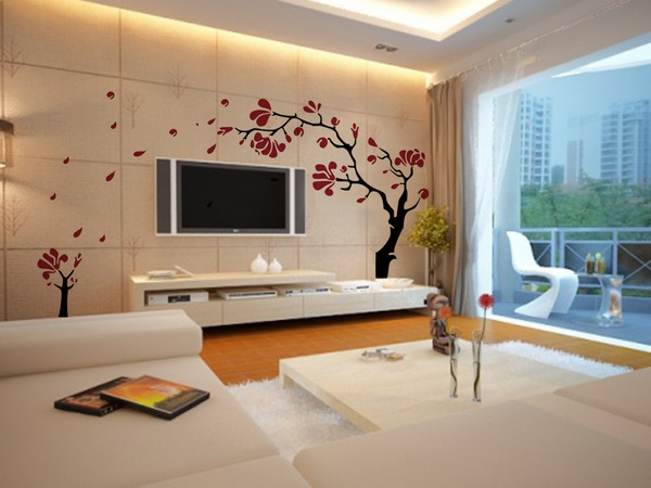 gorgeous modern wall designs for living room modern wall decorations for living room BLECBYN