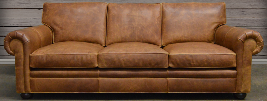 Grained leather sofa Leather sofa: full-grain and top-grain leather included.  ZOTFYXX