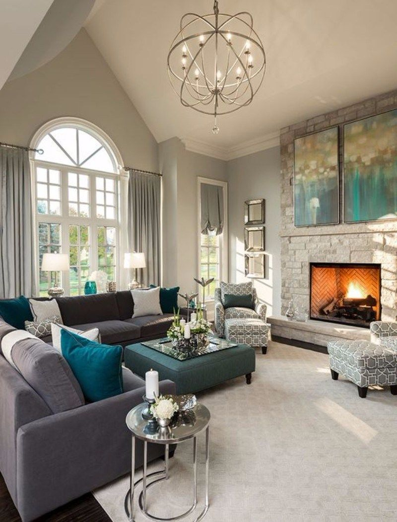 gray living room ideas living room decor - itu0027s hard to tell which came first;  were ORPBFIC