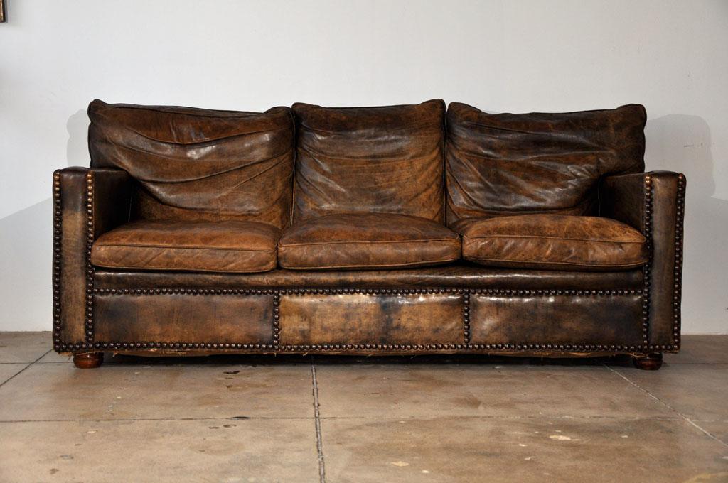 great leather sofa in used look LEOSUYZ