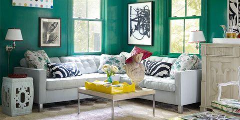 13 Green living room ideas - Green decor inspiration for living Ro
