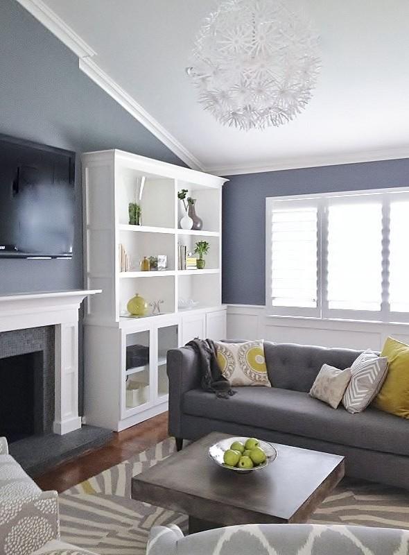 Gray and Green Living - Contemporary - Living Room - San Francisco.