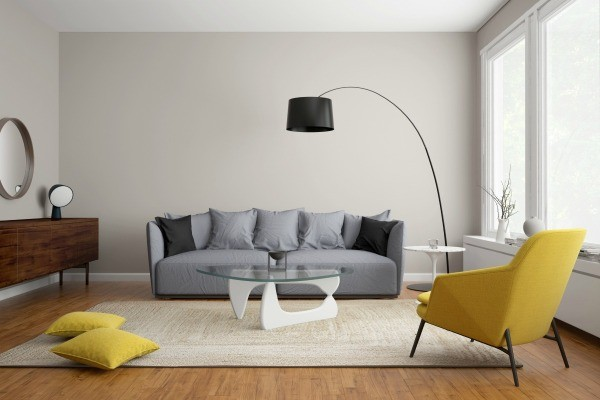 gray couch modern Scandinavian living room with gray sofa USZTNOW