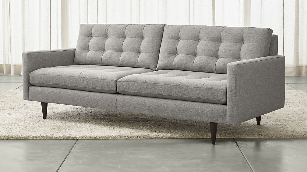 gray couch petrie mid-century sofa + reviews    Box and barrel of IPYTIXE