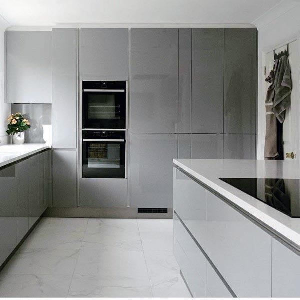 Ultra modern extraordinary gray kitchen ideas |  Modern gray kitchen.