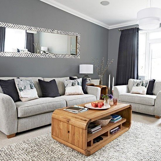 gray living room a dynamic mirror as wide as your sofa will add so much LORTIWX