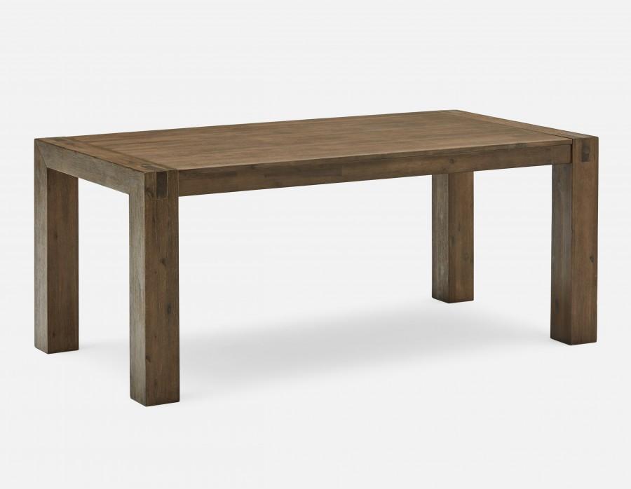 hamburg - solid wood dining table 71u0027u0027 - gray TWYDKFW