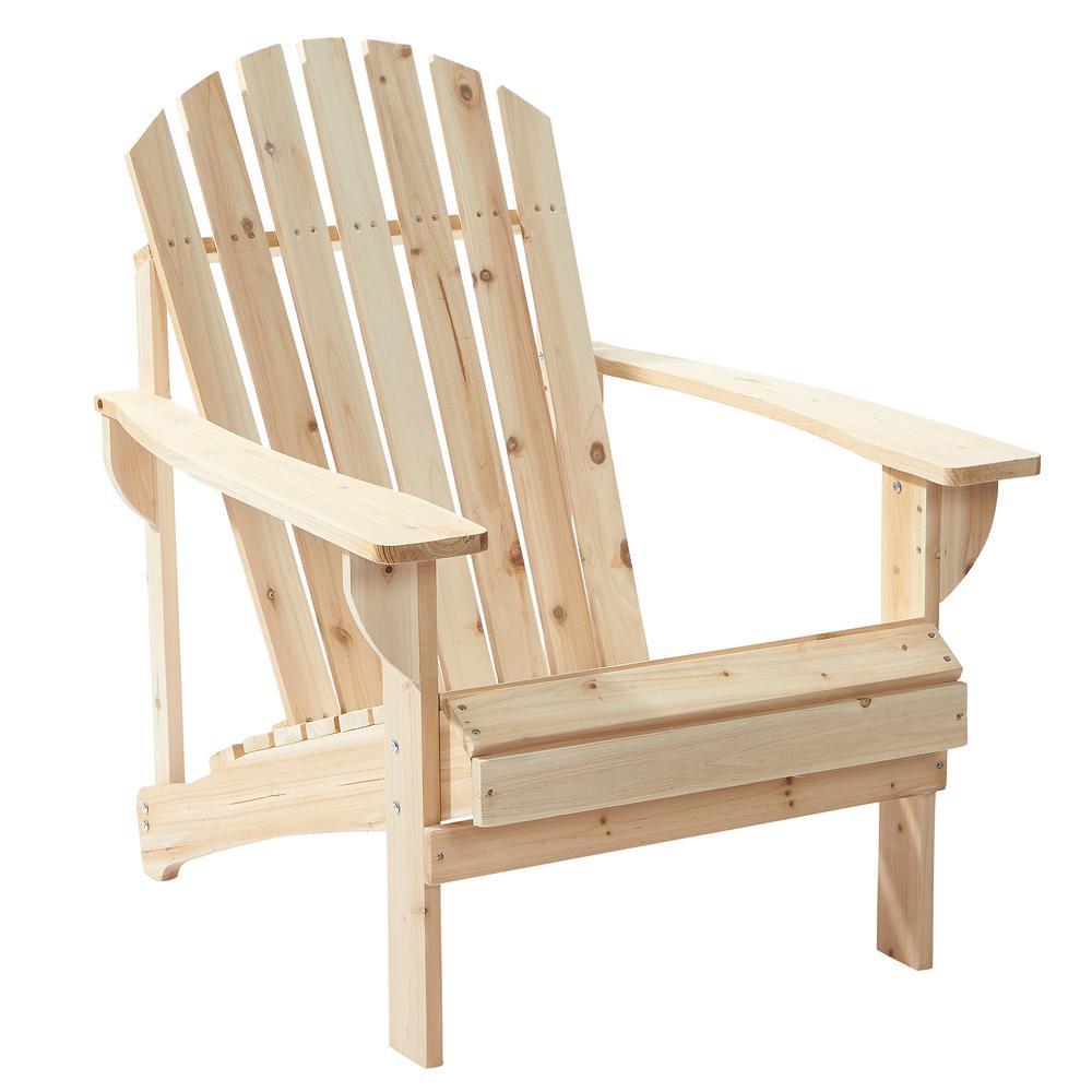 Hampton Bay Untreated Stationary Wooden Adirondack Chair (Pack of 2) CTKPSCD