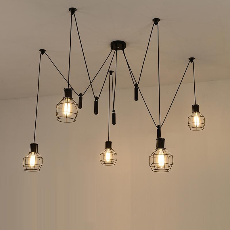 hanging lights spider pendant lights led spider light modern lamp single pulley KKDWSRC