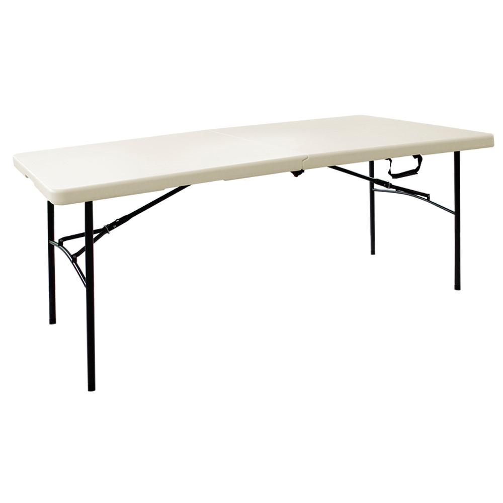 hdx earth brown folding table XWMJJBQ