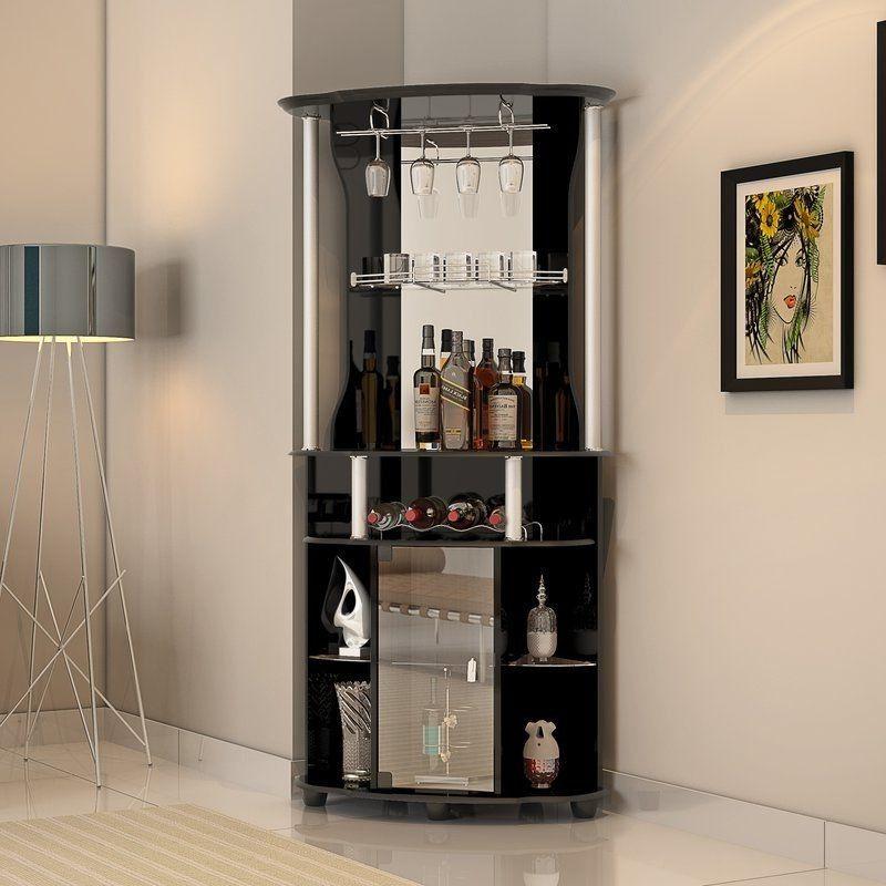 Home Bar Furniture Corner Wine Buffet Cabinet Living Room Storage Jar MBCGPUS