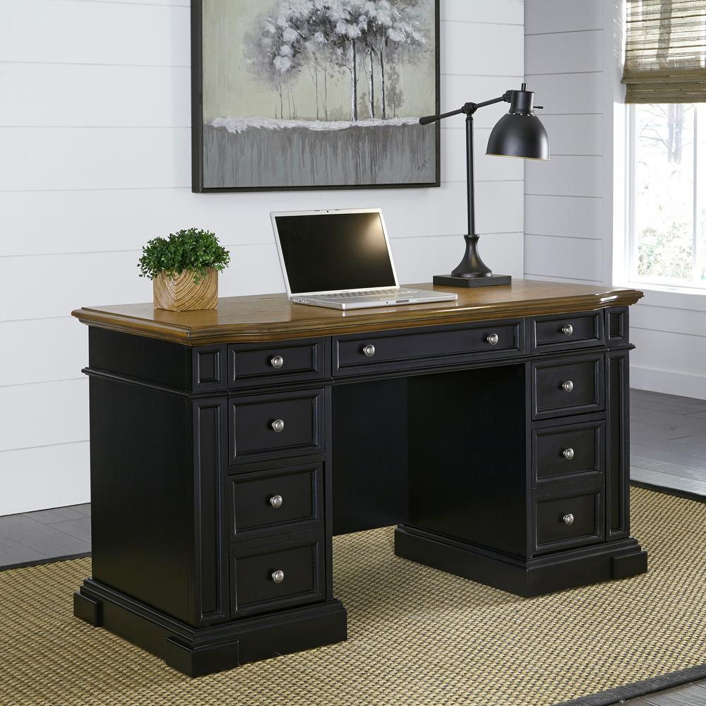 Home Styles Americana black desk with storage space SAPWANK