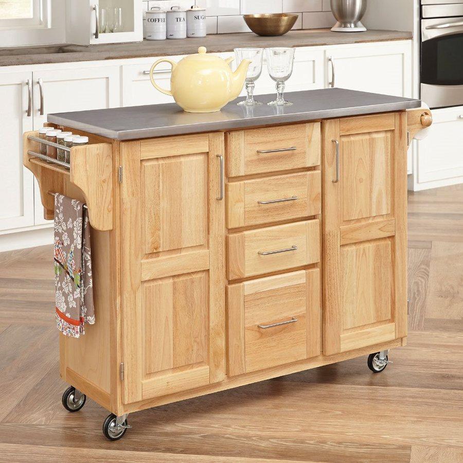 Home Styles brown Scandinavian kitchen cart TSFZRYH