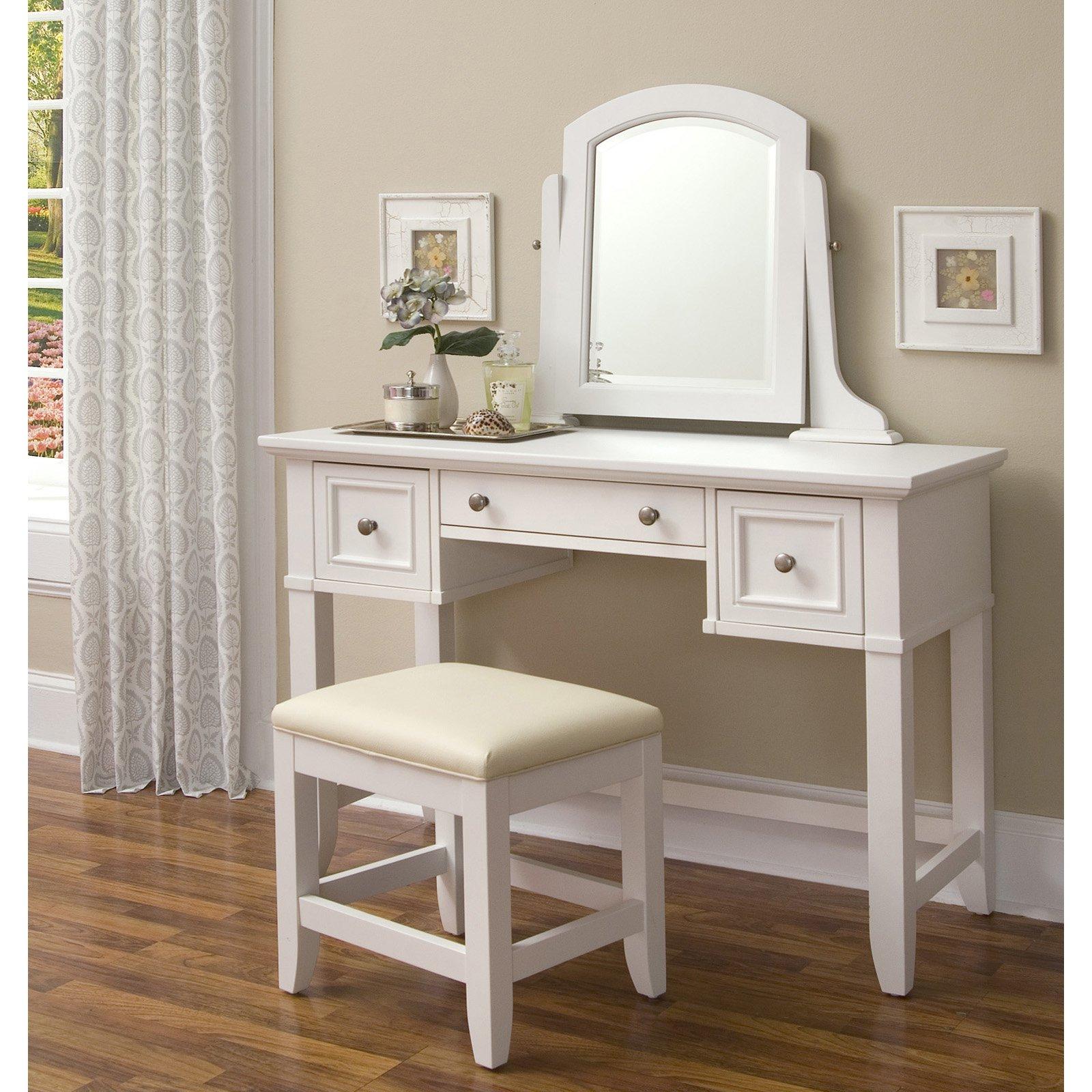 Home Styles Naples Bedroom Dressing Table - White |  Hayneedle OGIDNWA